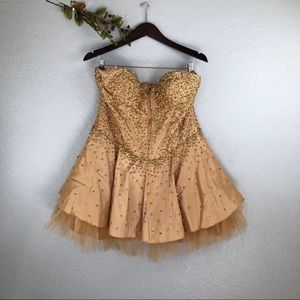 MAY QUEEN COUTURE SEQUIN MINI DRESS SIZE 12